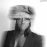 Studio photo noire et blanc mode maquillage naturel peau black