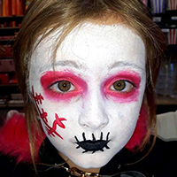 maquillage petite fille zombie bouche cousue