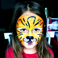 maquillage tigre pour fille